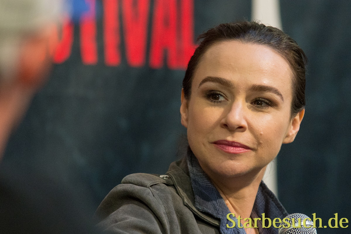 DORTMUND, GERMANY - APRIL 8: Actress Danielle Harris (Halloween, Hatched, See No Evil) at Weekend of Hell, a two day (April 7-8 2018) horror-themed fan convention.