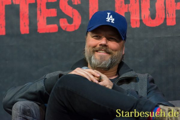 DORTMUND, GERMANY - APRIL 8: Actor Tyler Labine (Tucker & Dale vs Evil, Reaper, Deadbeat) at Weekend of Hell, a two day (April 7-8 2018) horror-themed fan convention.