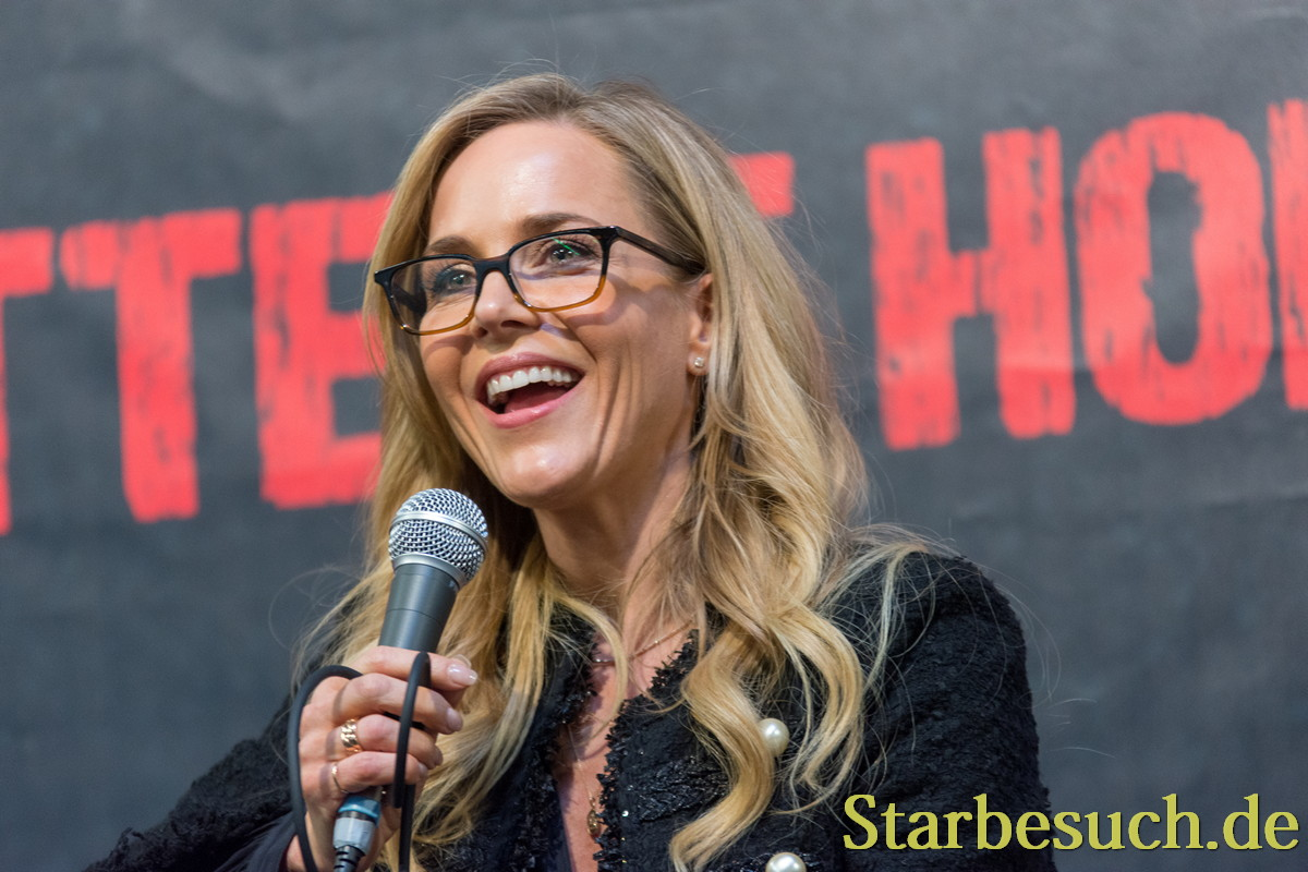 DORTMUND, GERMANY - APRIL 8: Actress Julie Benz (Dexter, SAW, Buffy, Angel, Rambo, Punisher) at Weekend of Hell, a two day (April 7-8 2018) horror-themed fan convention.
