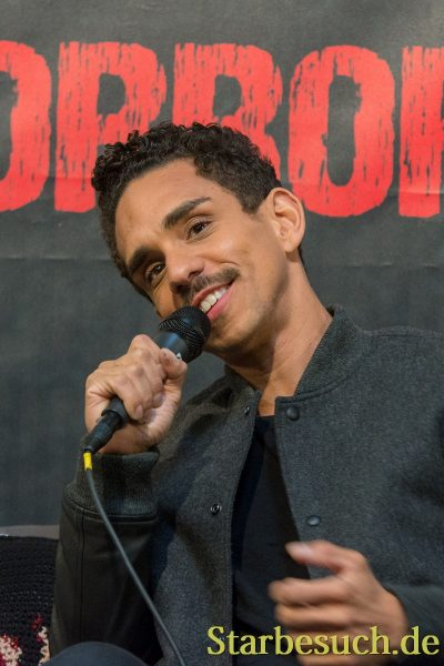 DORTMUND, GERMANY - APRIL 8: Actor Ray Santiago (Ash vs Evil Dead, Dexter) at Weekend of Hell, a two day (April 7-8 2018) horror-themed fan convention.