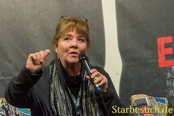 DORTMUND, GERMANY - APRIL 8: Actress Betsy Baker (Evil Dead) at Weekend of Hell, a two day (April 7-8 2018) horror-themed fan convention.