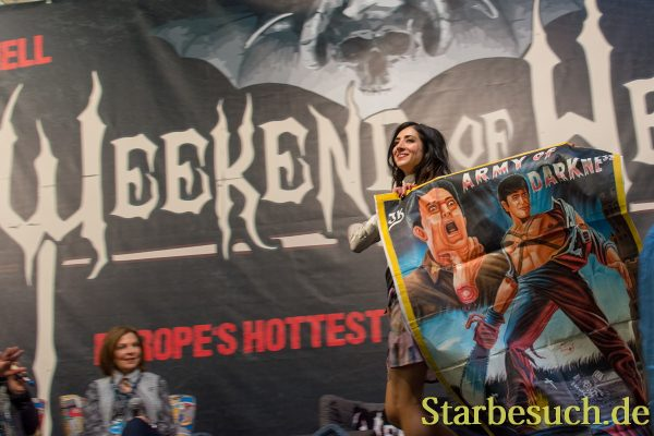 DORTMUND, GERMANY - APRIL 8: Actress Dana DeLorenzo (Ash vs Evil Dead) at Weekend of Hell, a two day (April 7-8 2018) horror-themed fan convention.