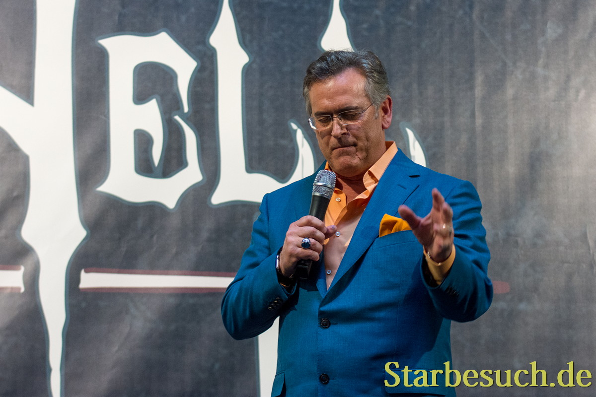 DORTMUND, GERMANY - APRIL 8: Actor Bruce Campbell (Ash vs Evil Dead, Evil Dead) at Weekend of Hell, a two day (April 7-8 2018) horror-themed fan convention.