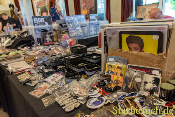 BAD NAUHEIM, GERMANY - August 19th 2018: Merchandise at the 17th European Elvis Festival