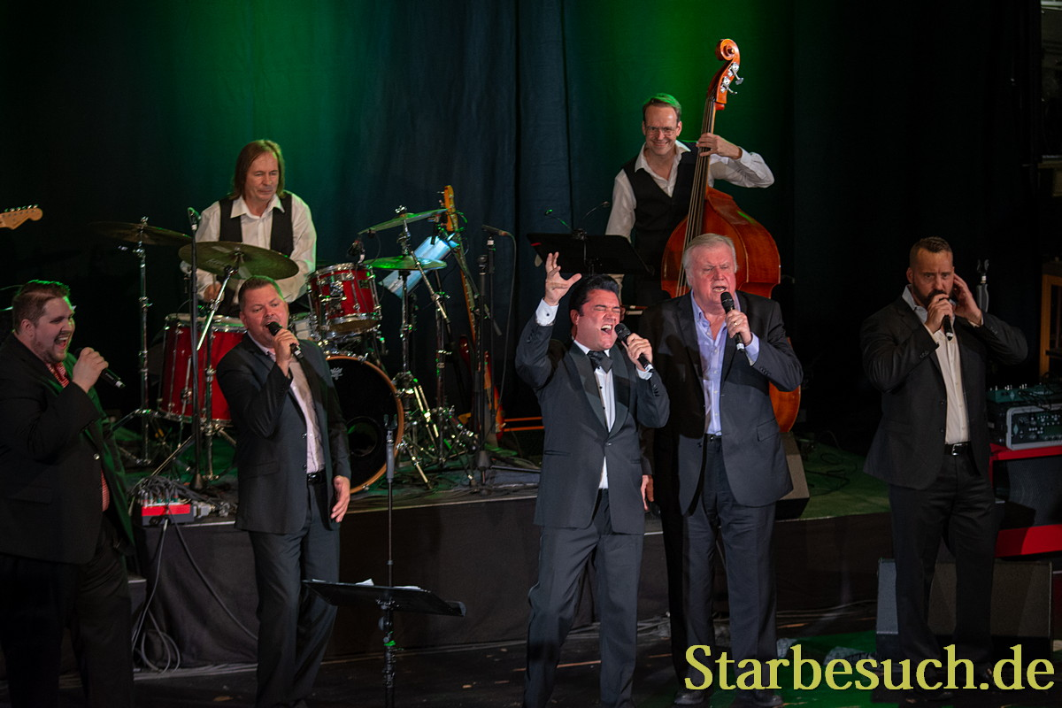 BAD NAUHEIM, GERMANY - August 19th 2018: Grahame Patrick and Ed Enoch and the Stamps at the 17th European Elvis Festival