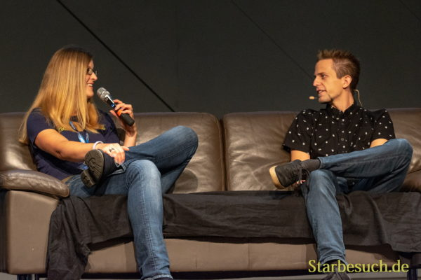 FUERTH, Germany - September 22nd 2018: Eva Widermann and Tim Dagott at Noris Force Con 5