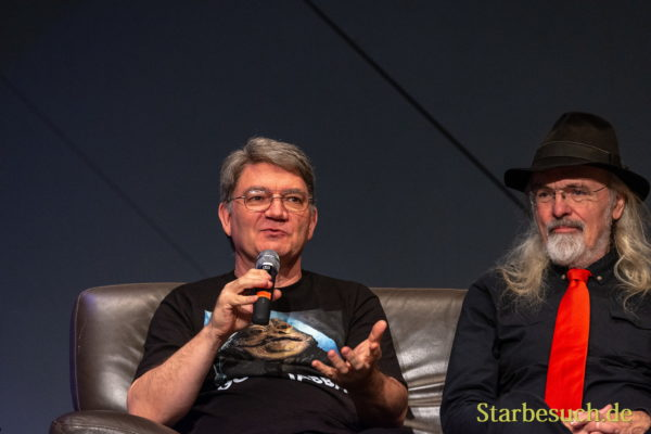FUERTH, Germany - September 22nd 2018: Dave Barclay and Toby Philpott at Noris Force Con 5