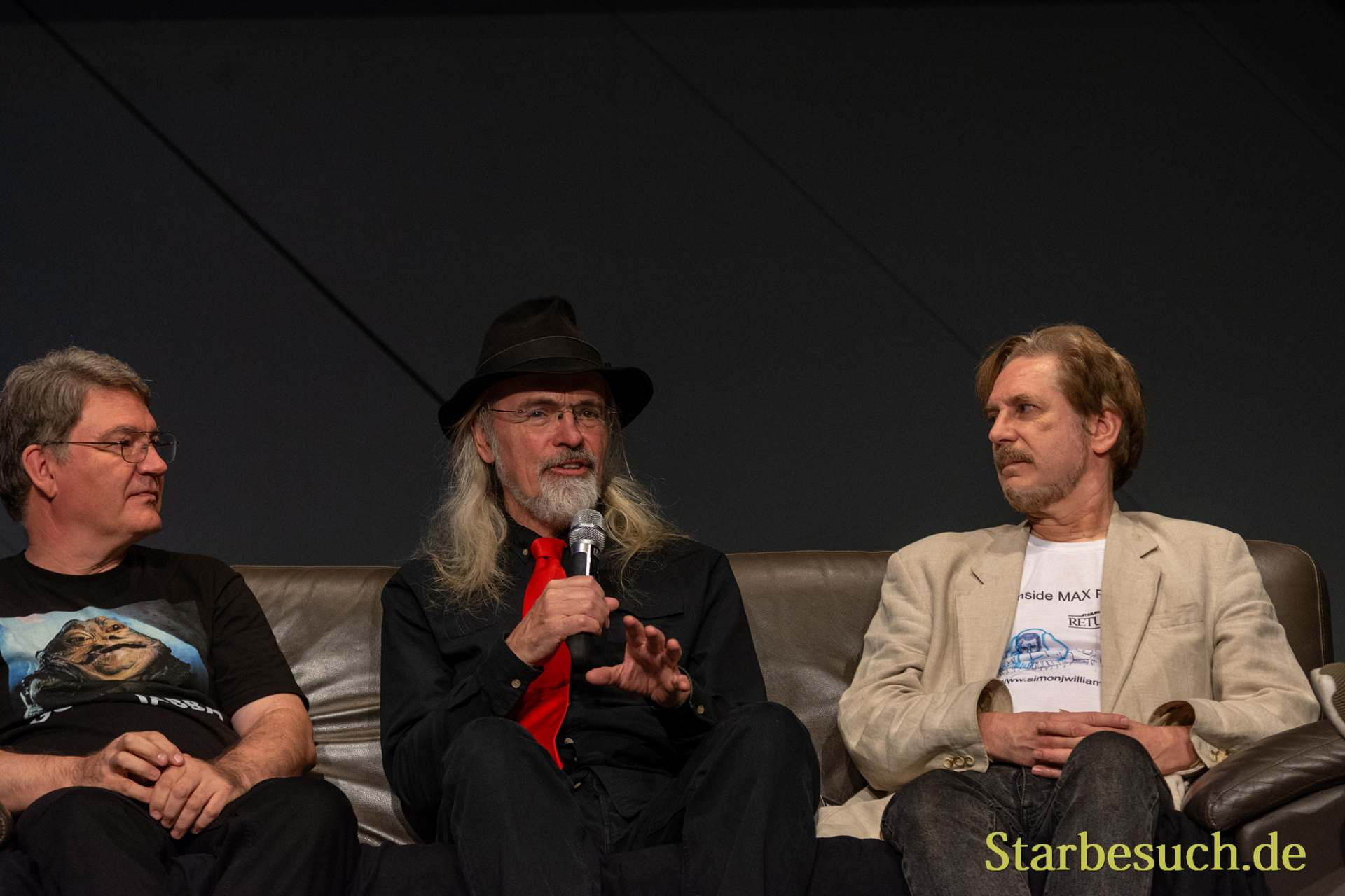 FUERTH, Germany - September 22nd 2018: Dave Barclay, Toby Philpott and Simon Williamson at Noris Force Con 5