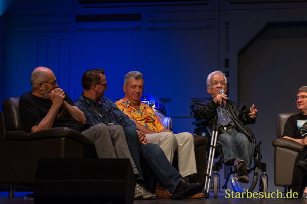 FUERTH, Germany - September 22nd 2018: John Coppinger, Jez Harris, Tim Rose and Mike Edmonds at Noris Force Con 5