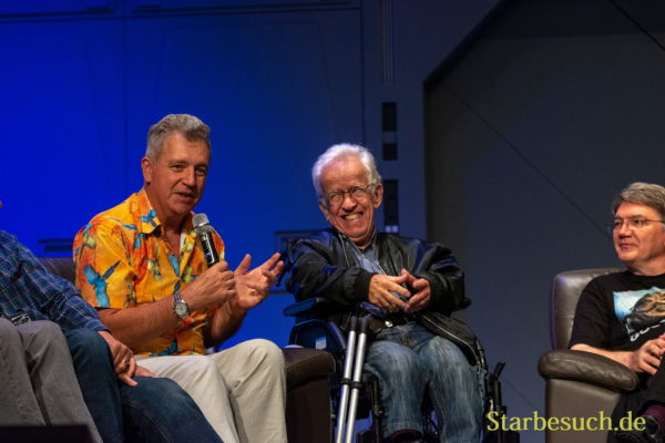 FUERTH, Germany - September 22nd 2018: Tim Rose, Mike Edmonds and Dave Barclay at Noris Force Con 5