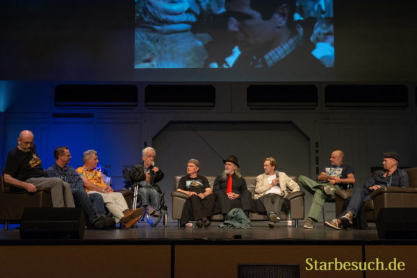 FUERTH, Germany - September 22nd 2018: John Coppinger, Jez Harris, Tim Rose, Mike Edmonds, Dave Barclay, Toby Philpott, Simon Williamson, Peter Ross and John Simpkin at Noris Force Con 5