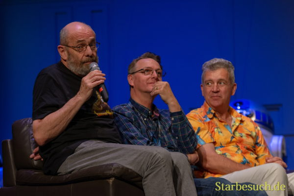 FUERTH, Germany - September 22nd 2018: John Coppinger, Jez Harris and Tim Rose at Noris Force Con 5