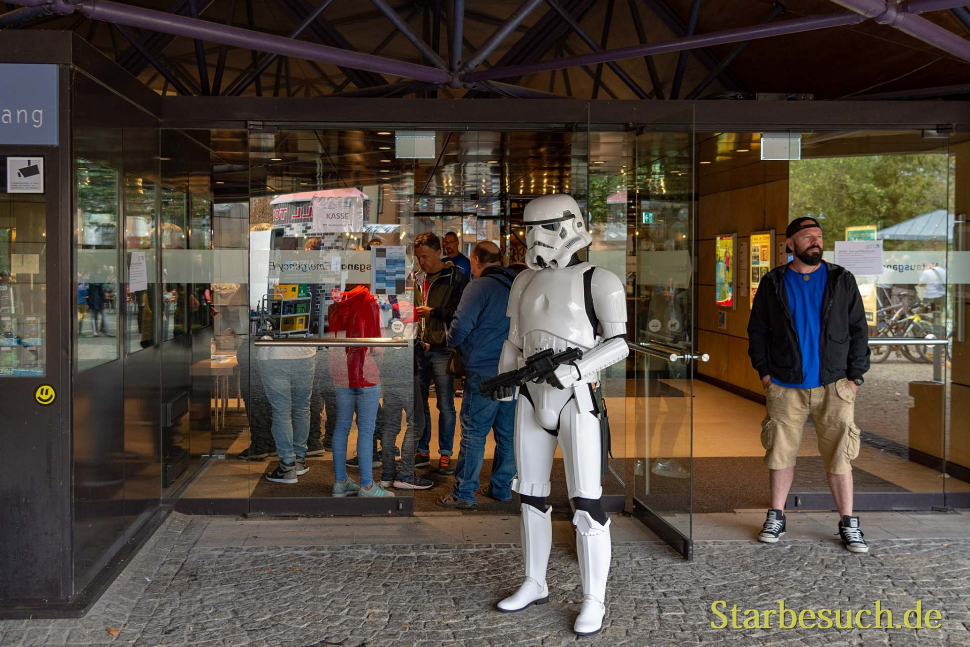 FUERTH, Germany - September 22nd 2018: Stormtrooper at the entrance of Noris Force Con 5