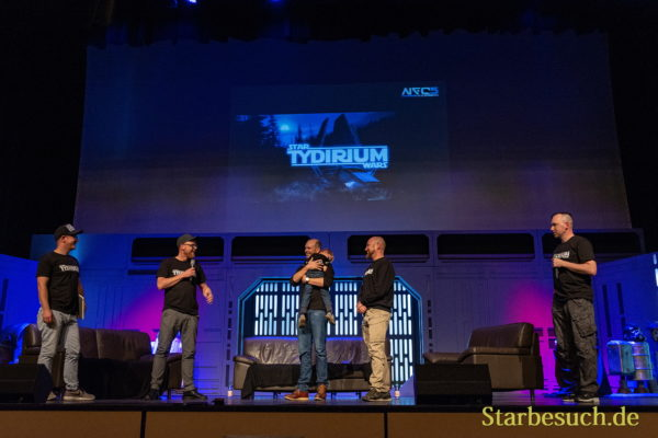 FUERTH, Germany - September 22nd 2018: production crew of the Star Wars fan film Tydirium at Noris Force Con 5
