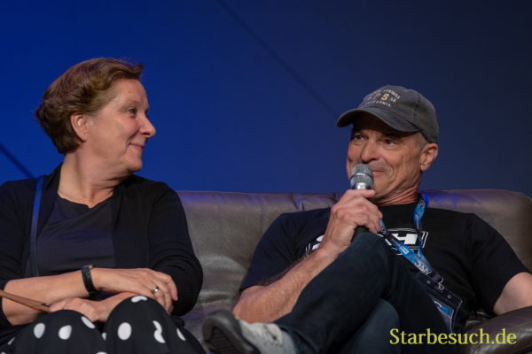 FUERTH, Germany - September 22nd 2018: Susanna Bonaséwicz and Hans-Georg Panczak at Noris Force Con 5
