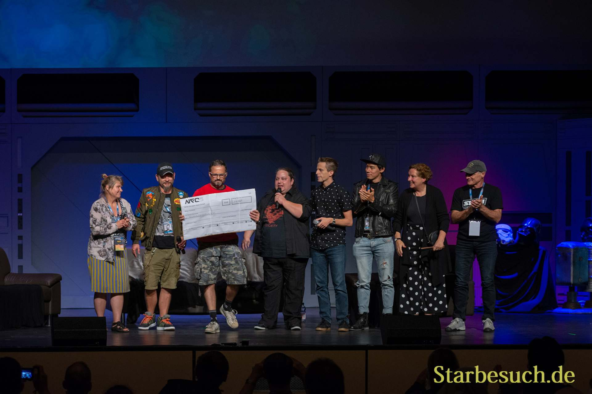 FUERTH, Germany - September 22nd 2018: donation handover of Björn Schalla donation at Noris Force Con 5