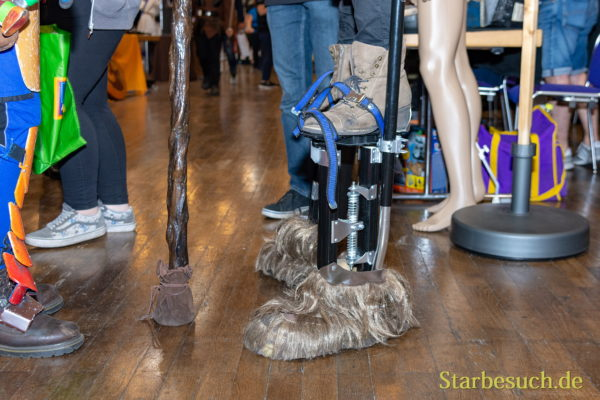 FUERTH, Germany - September 22nd 2018: Chewbacca Feet - Impressions from Noris Force Con 5