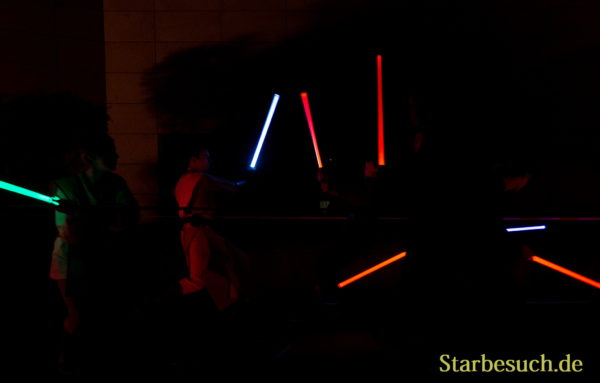 FUERTH, Germany - September 22nd 2018: lightsaber show at Noris Force Con 5