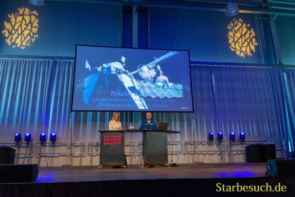 Cosmonaut Nikolai Budarin visits Technik Museum Speyer, Germany