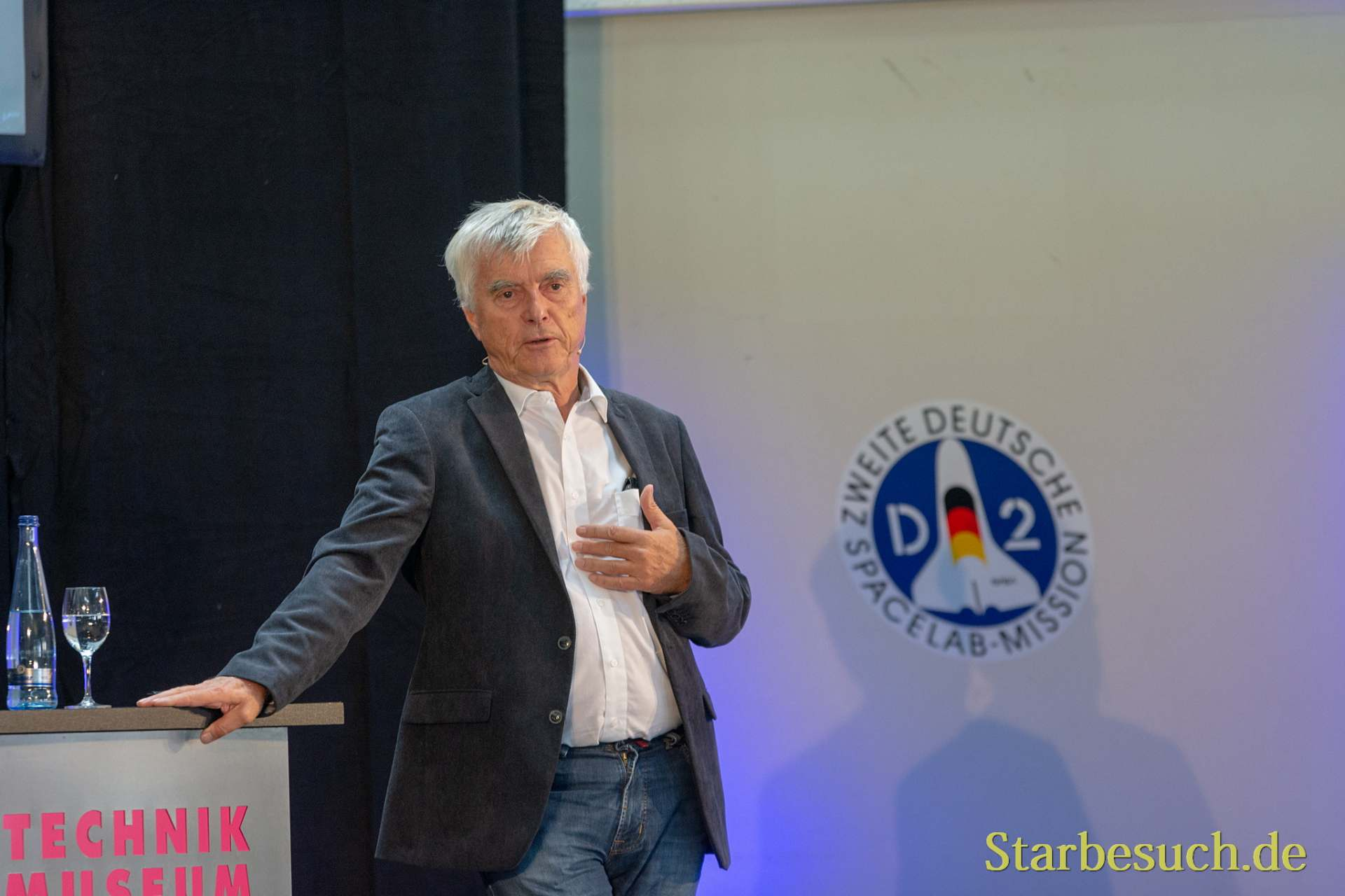 SPEYER, Germany - October 14th 2018: Ulf Merbold at Space Flight Day