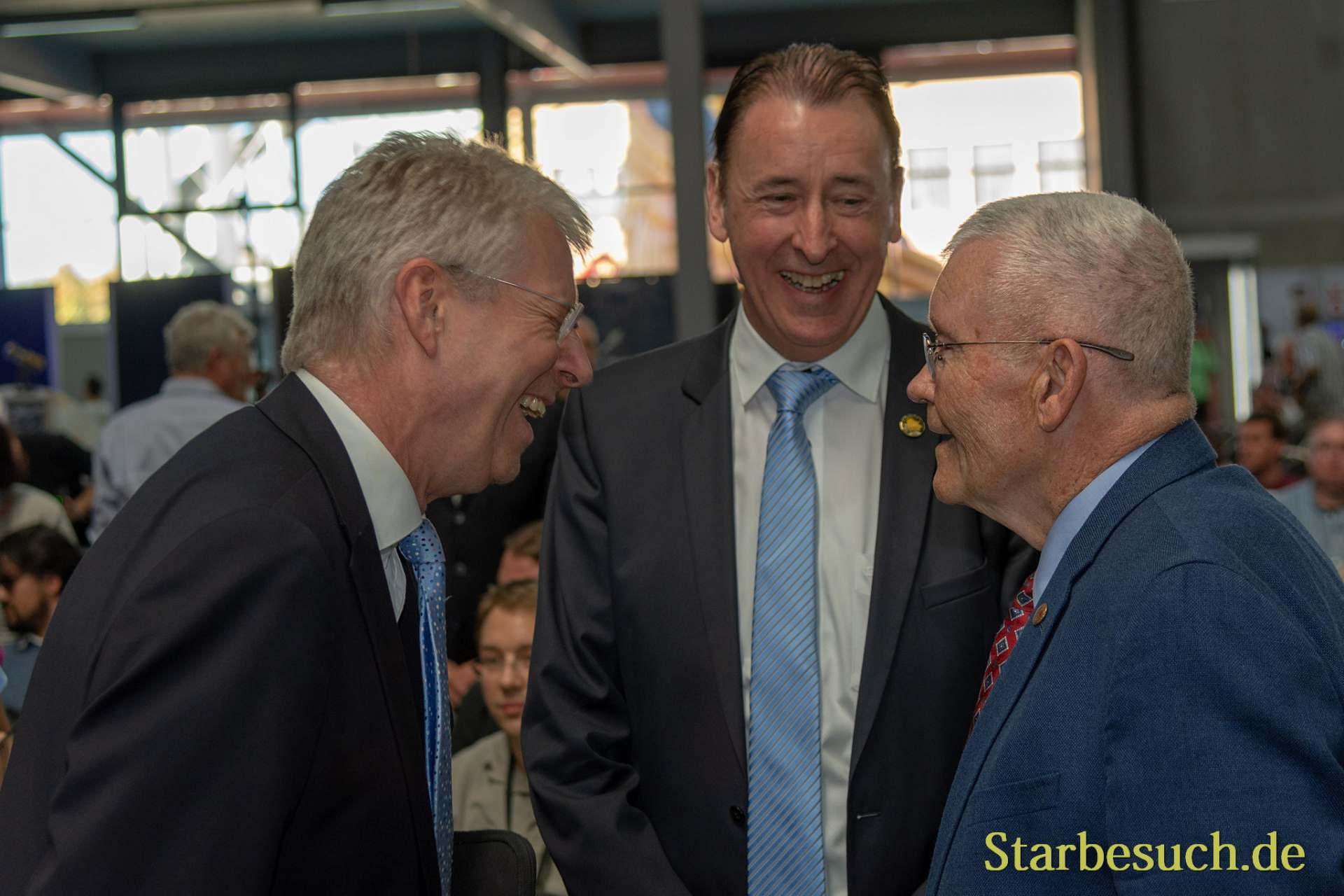 SPEYER, Germany - October 14th 2018: Thomas Reiter, Gerhard Daum and Fred Haise at Space Flight Day