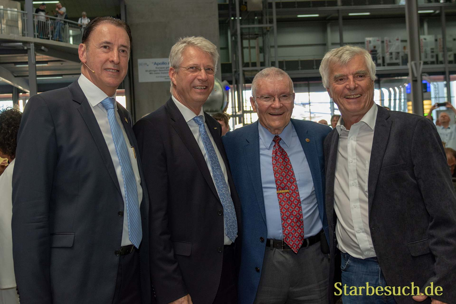 SPEYER, Germany - October 14th 2018: Gerhard Daum, Thomas Reiter, Fred Haise and Ulf Merbold at Space Flight Day