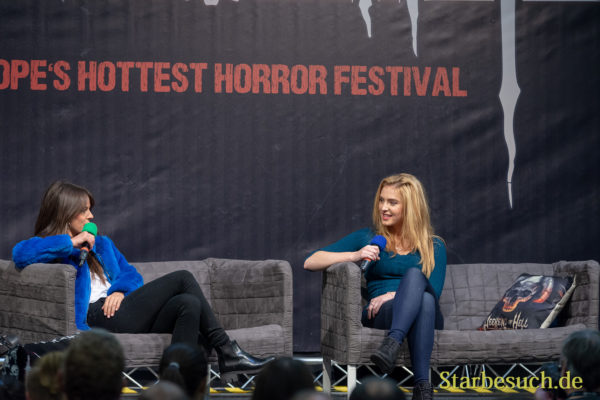 DORTMUND, GERMANY - November 3rd 2018: Sarah Butler and Saxon Sharbino at Weekend of Hell 2018