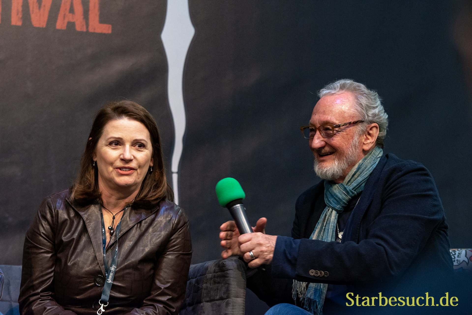 DORTMUND, GERMANY - November 3rd 2018: Joann Willette and Robert Englund at Weekend of Hell 2018
