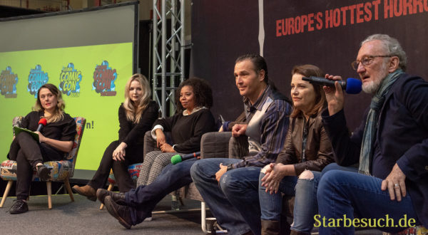 DORTMUND, GERMANY - November 3rd 2018: Tuesday Knight, Toy Newkirk, Danny Hassel, Joann Willette and Robert Englund at Weekend of Hell 2018