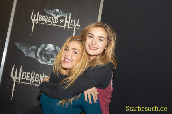 DORTMUND, GERMANY - November 3rd 2018: Saxon Sharbino and Brighton Sharbino at Weekend of Hell 2018