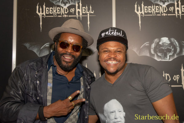 DORTMUND, GERMANY - November 3rd 2018: Chad L. Coleman and IronE Singleton at Weekend of Hell 2018