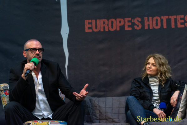 DORTMUND, GERMANY - November 3rd 2018: Alan Van Sprang and Dina Meyer at Weekend of Hell 2018