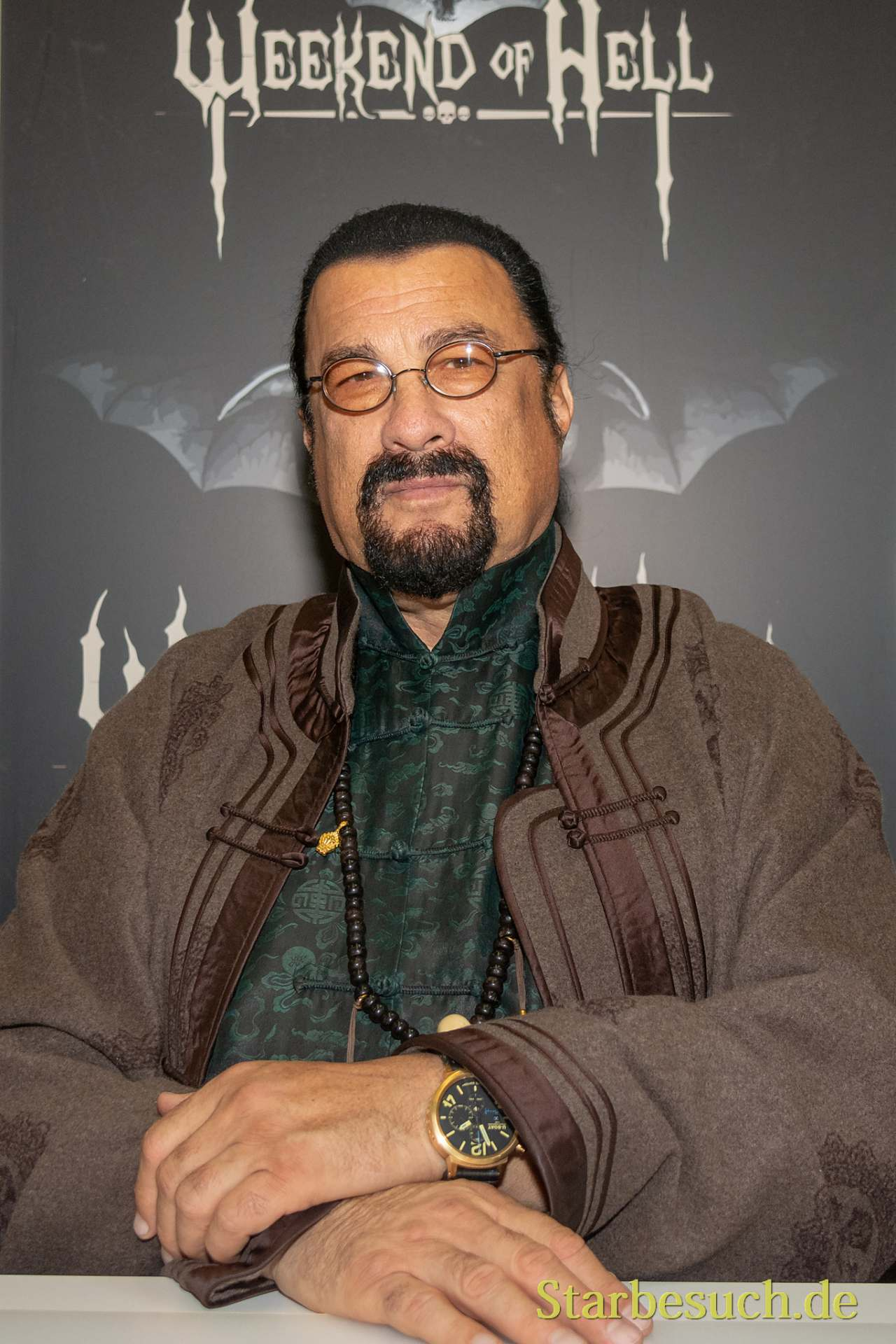 DORTMUND, GERMANY - November 3rd 2018: Steven Seagal at Weekend of Hell 2018