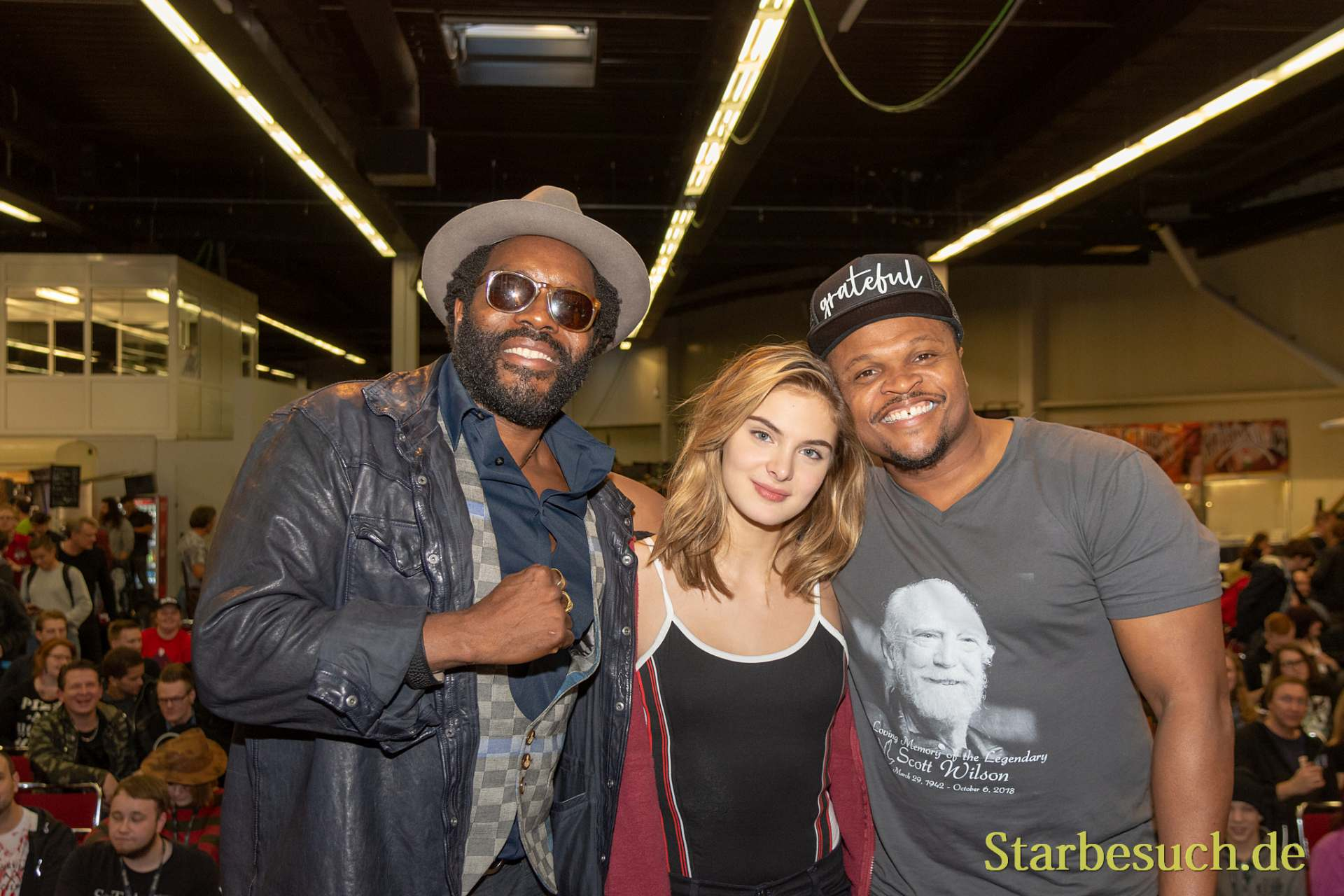 DORTMUND, GERMANY - November 3rd 2018: Chad L. Coleman, Brighton Sharbino and IronE Singleton at Weekend of Hell 2018