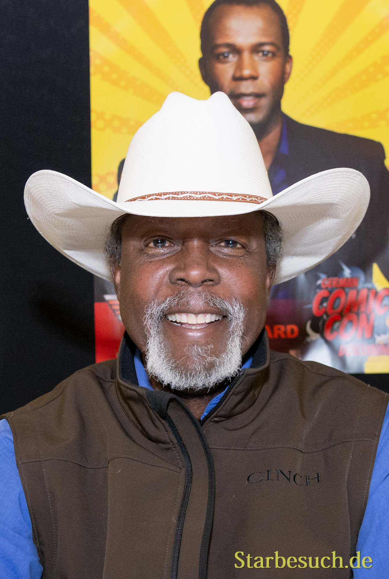DORTMUND, GERMANY - December 1st 2018: Clarence Gillard Jr. (*1955, american actor - Walker Texas Ranger) at German Comic Con Dortmund, a two day fan convention
