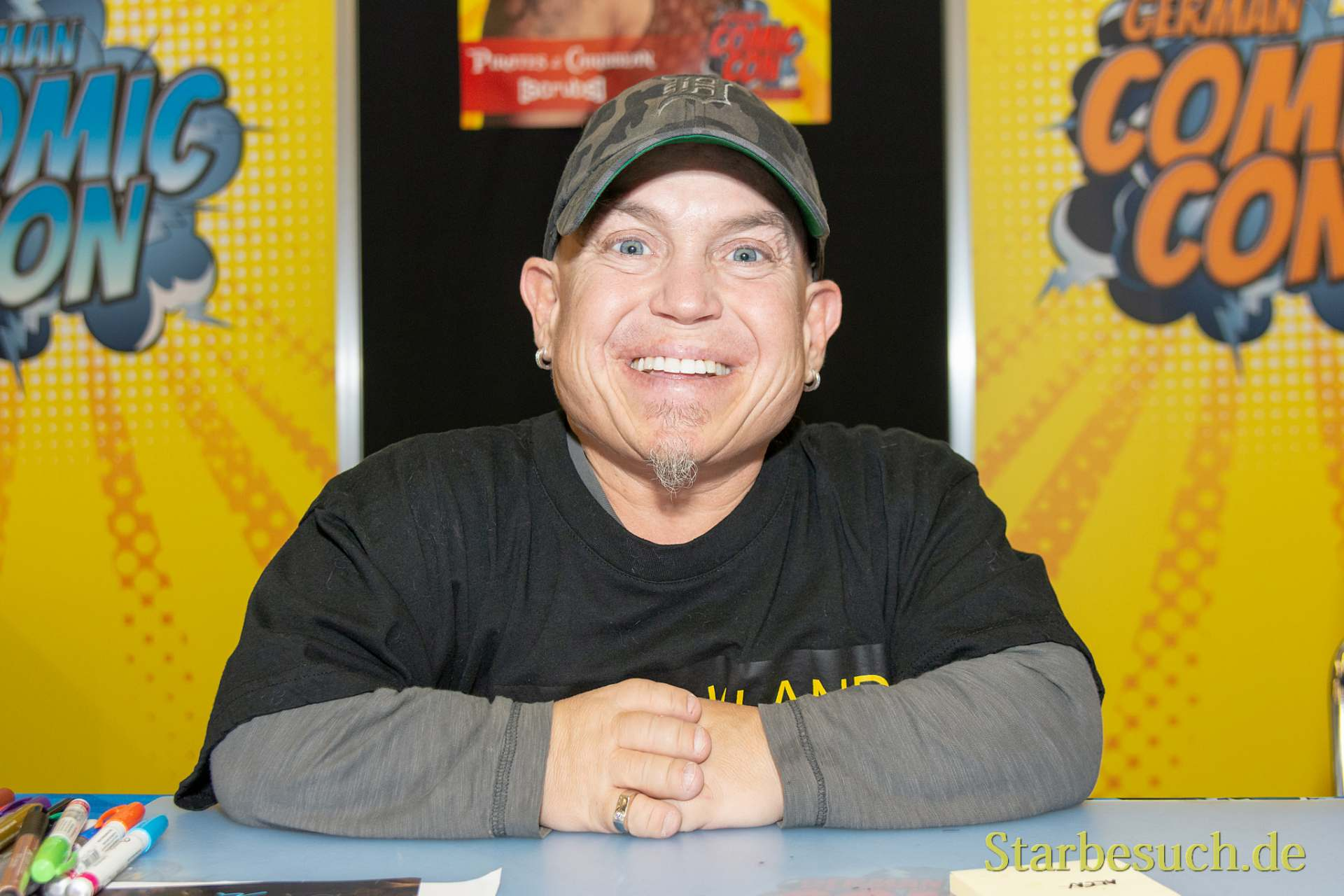 DORTMUND, GERMANY - December 1st 2018: Martin Klebba (*1969, American actor) at German Comic Con Dortmund, a two day fan convention