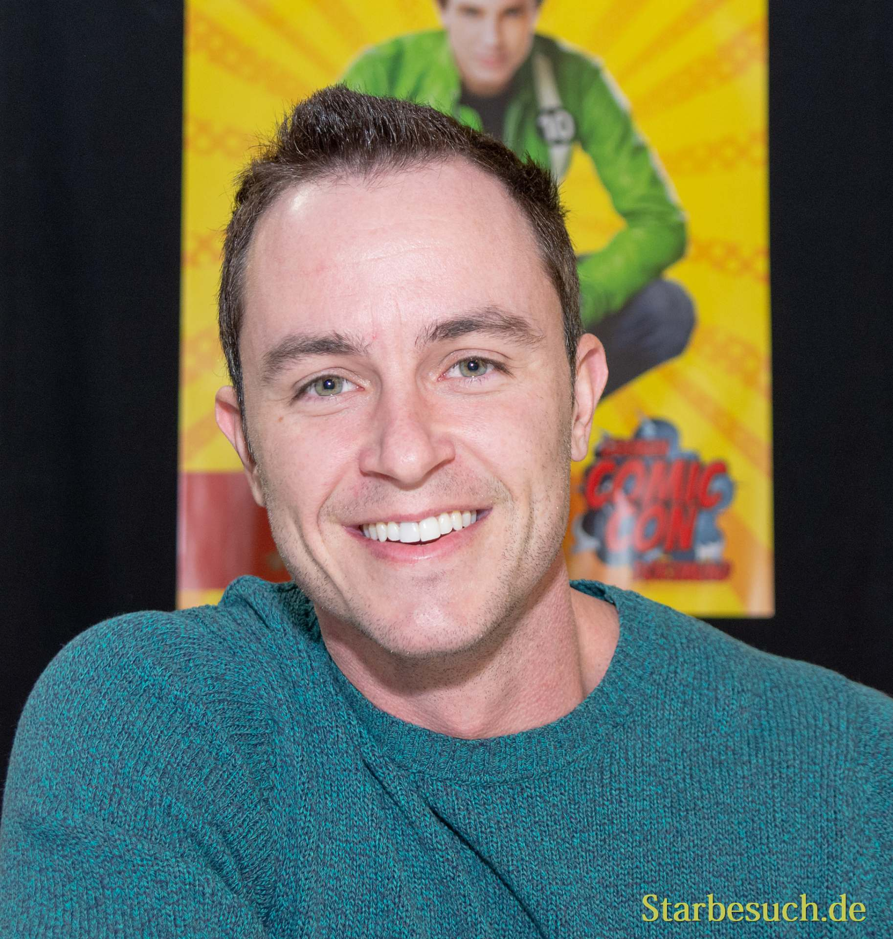 DORTMUND, GERMANY - December 1st 2018: Ryan Kelley (*1986, American actor) at German Comic Con Dortmund, a two day fan convention
