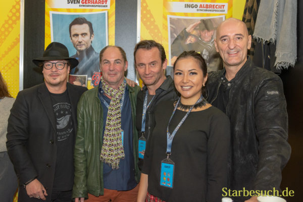 DORTMUND, GERMANY - December 1st 2018: Tommy Morgenstern, Marcus Off, Sven Gerhardt and Ingo Albrecht at German Comic Con Dortmund, a two day fan convention