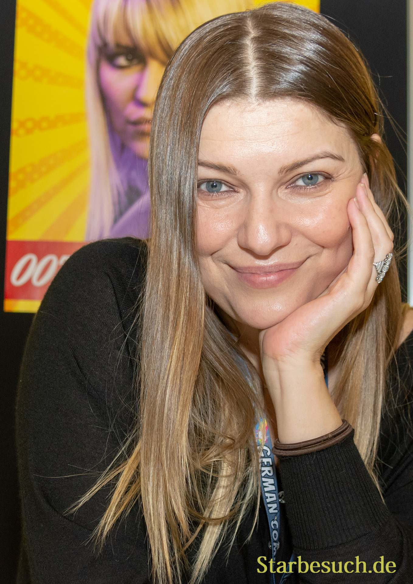 DORTMUND, GERMANY - December 1st 2018: Ivana Milicevic (*1974, Bosnian-American actress) at German Comic Con Dortmund, a two day fan convention