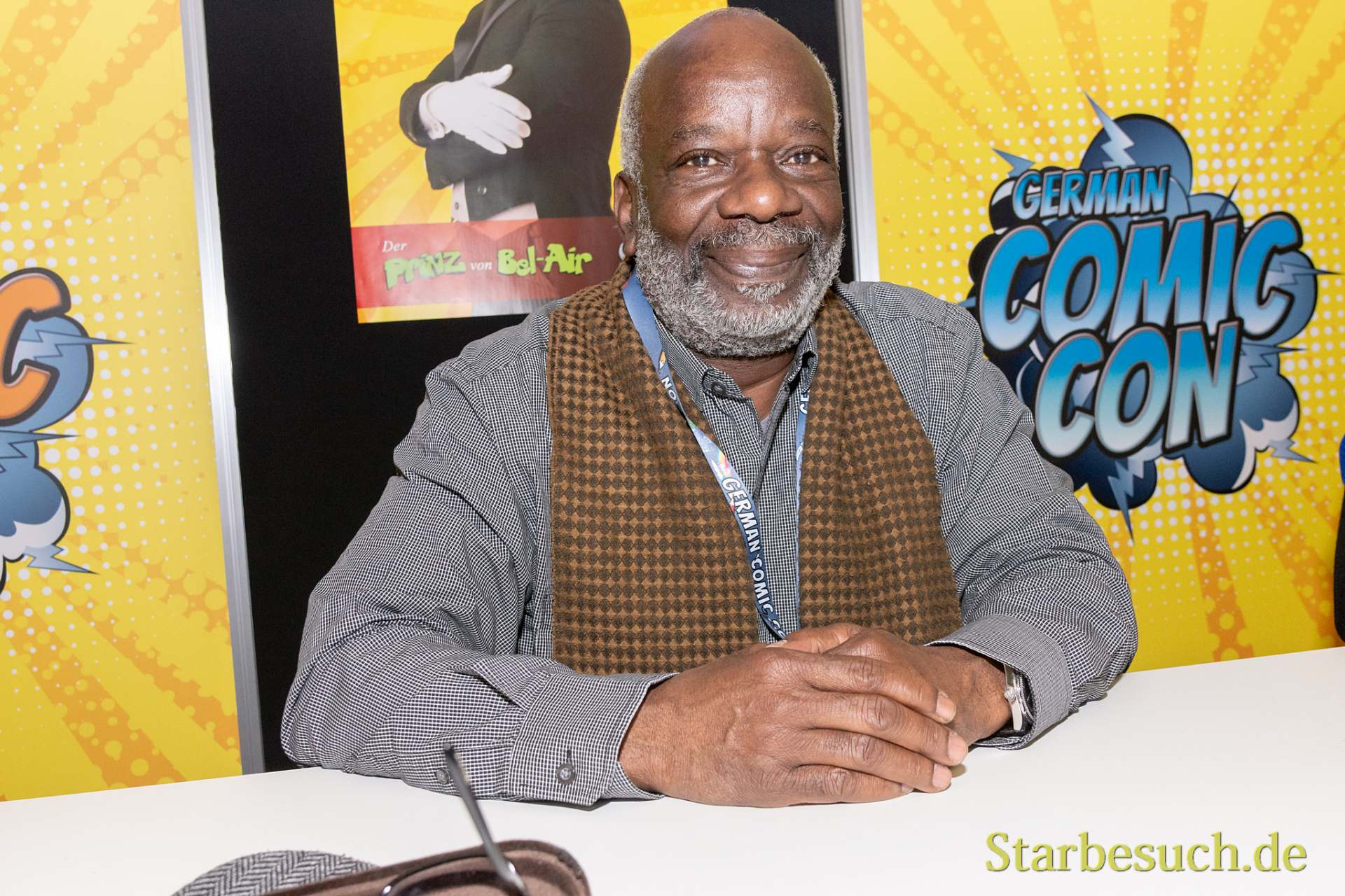 DORTMUND, GERMANY - December 1st 2018: Joseph Marcell (*1948, British actor) at German Comic Con Dortmund, a two day fan convention