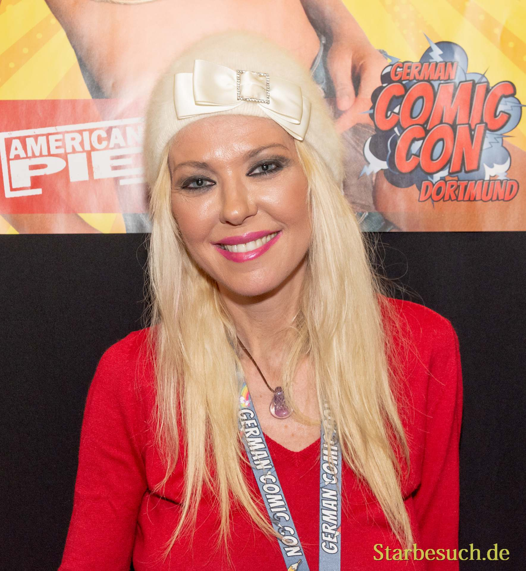 DORTMUND, GERMANY - December 1st 2018: Tara Reid (*1975, American actress - Sharknado, American Pie) at German Comic Con Dortmund, a two day fan convention