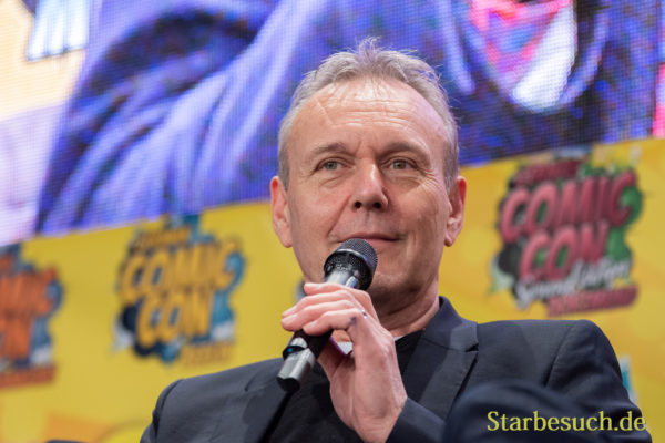 DORTMUND, GERMANY - December 1st 2018: Anthony Head (*1954, English actor - Buffy the Vampire Slayer) at German Comic Con Dortmund, a two day fan convention