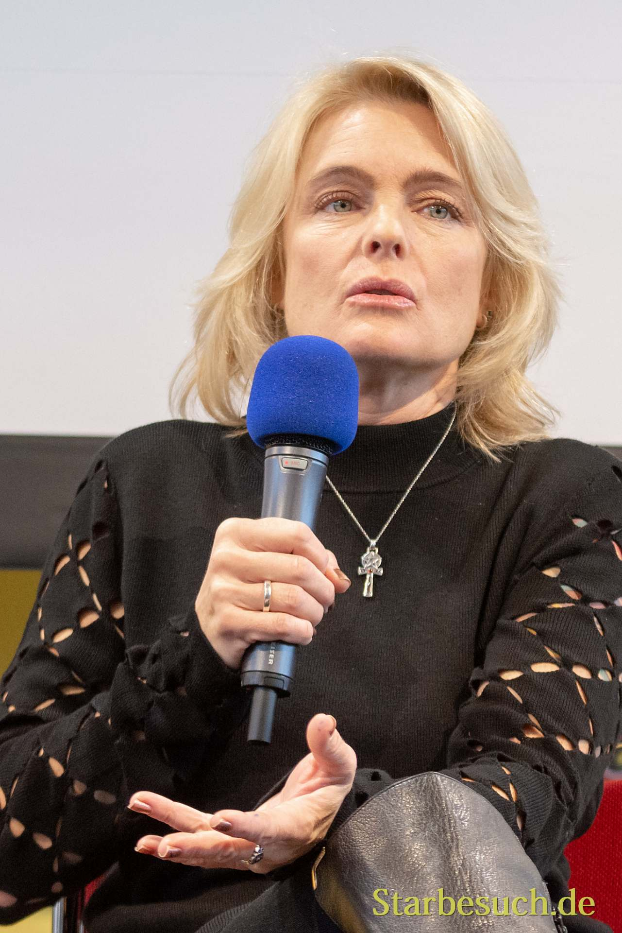 DORTMUND, GERMANY - December 1st 2018: Erika Eleniak (*1969, American actress of Ukrainian descent - Baywatch) at German Comic Con Dortmund, a two day fan convention