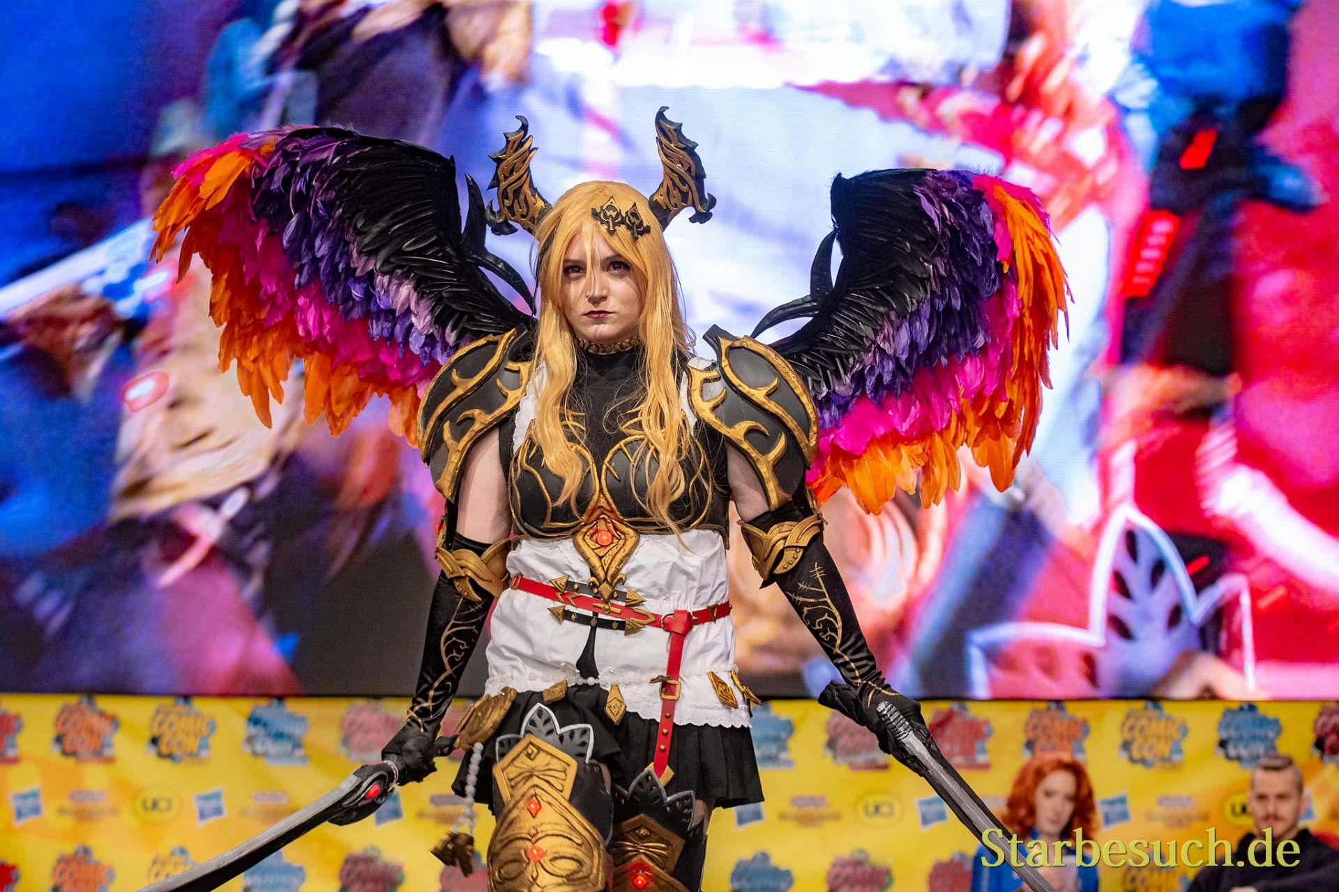 DORTMUND, GERMANY - December 1st 2018: Cosplayer nica_cosplay_de portrays the character Olivia from Rage of Bahamut (Game) at German Comic Con Dortmund, a two day fan convention