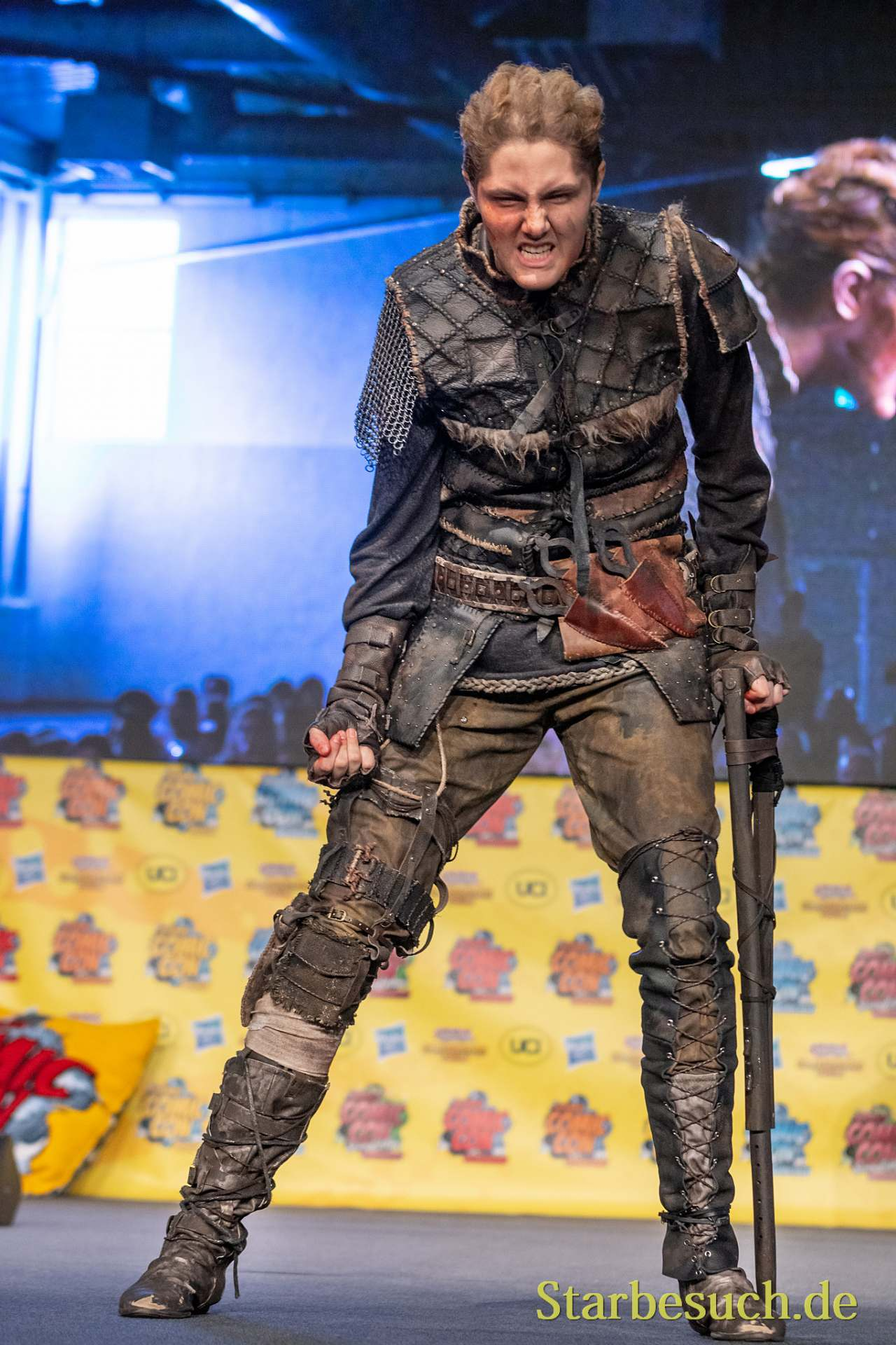 DORTMUND, GERMANY - December 1st 2018: Cosplayer The Trashqueen portrays the character Ivar the Boneless from Vikings (TV Show) at German Comic Con Dortmund, a two day fan convention