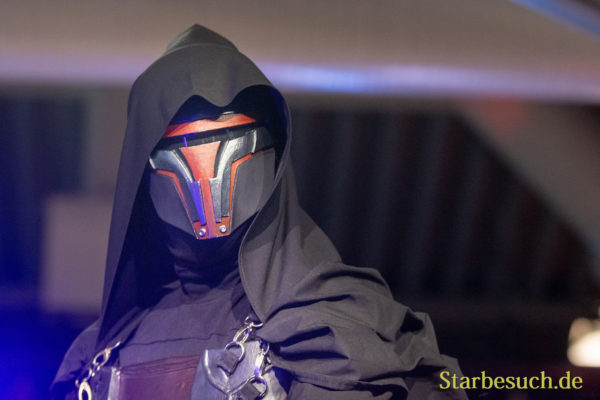 DORTMUND, GERMANY - December 1st 2018: Cosplayer portrays the character Darth Revan from Star Wars - Knight of the Old Republic (Game) at German Comic Con Dortmund, a two day fan convention