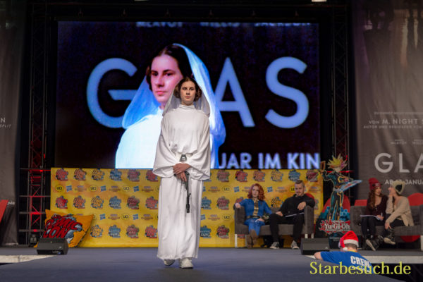 DORTMUND, GERMANY - December 1st 2018: Cosplayer portrays the character Leia Organa from Star Wars -Episode IV at German Comic Con Dortmund, a two day fan convention