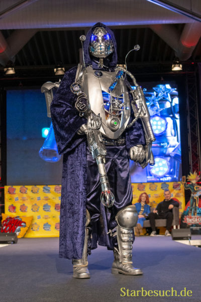 DORTMUND, GERMANY - December 1st 2018: Cosplayer Kometenkrieger portrays a fictious science-fiction character at German Comic Con Dortmund, a two day fan convention