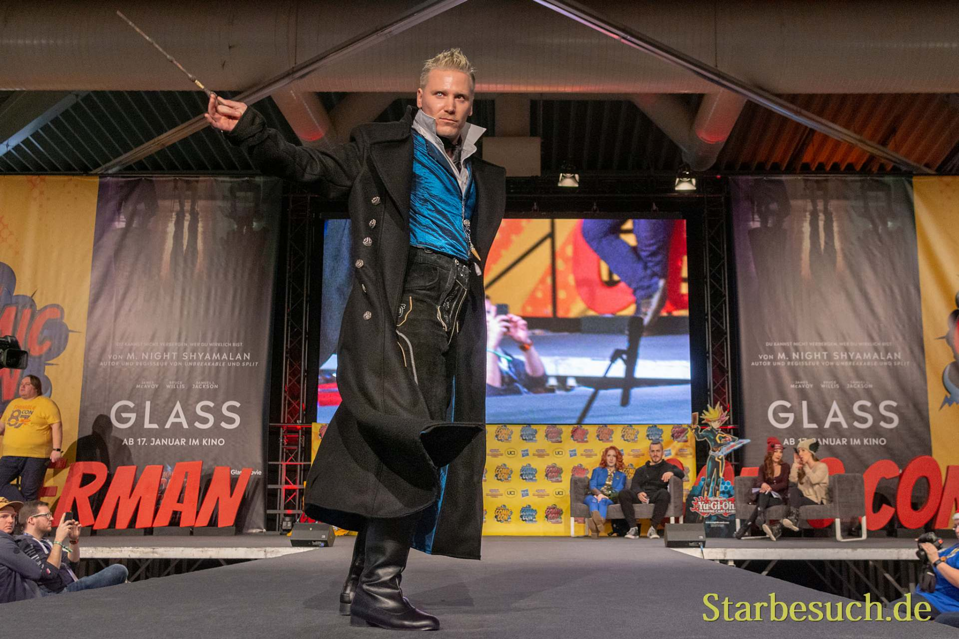 DORTMUND, GERMANY - December 1st 2018: Cosplayer portrays the character Gellert Grindelwald from Fantastic Beasts at German Comic Con Dortmund, a two day fan convention