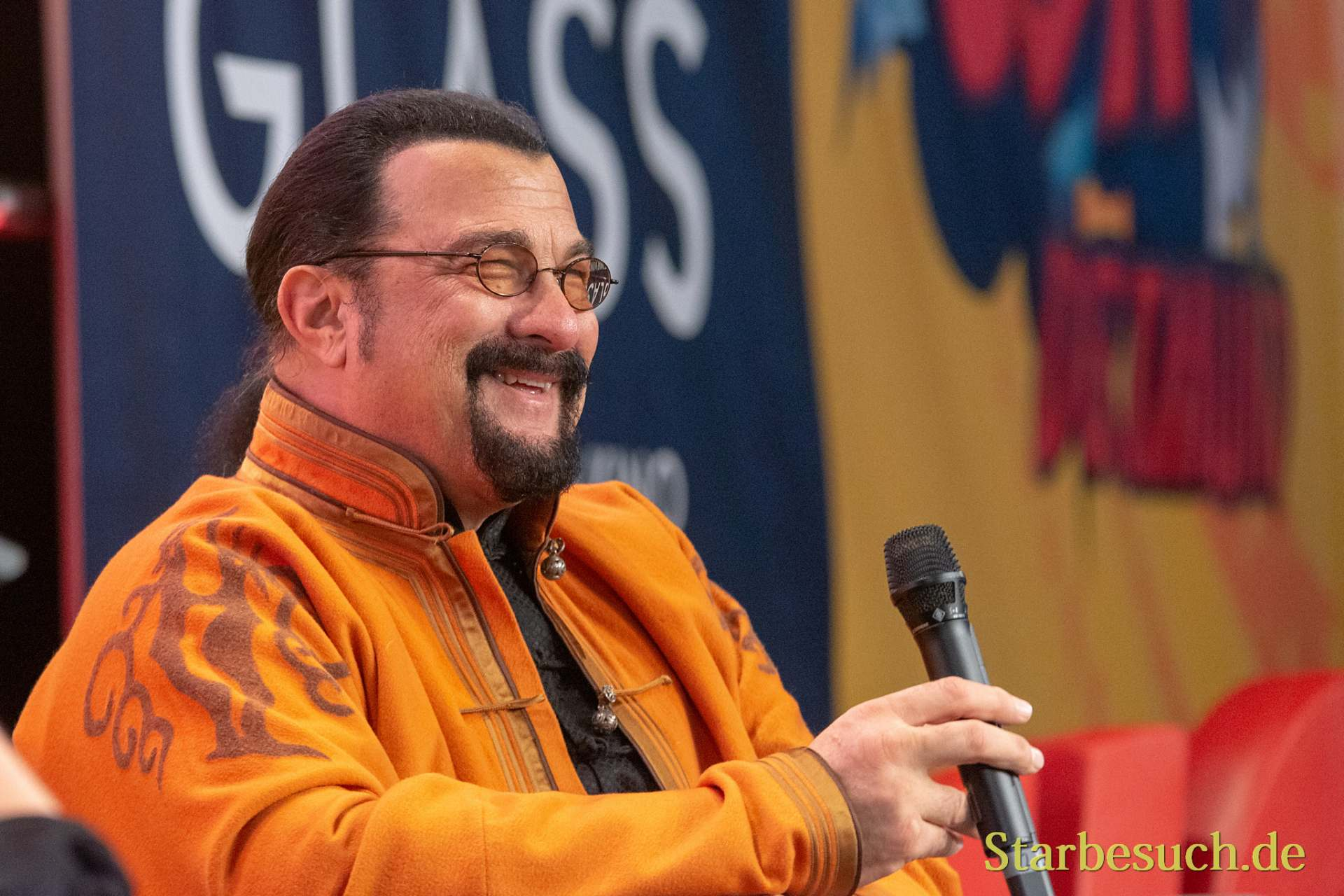 DORTMUND, GERMANY - December 1st 2018: Steven Seagal (*1952, American actor, martial artist, and film producer) at German Comic Con Dortmund, a two day fan convention